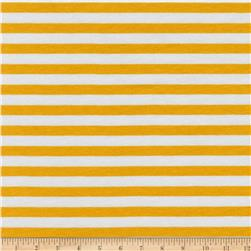 Kaufman Blake Cotton Jersey Knit Stripe Silver