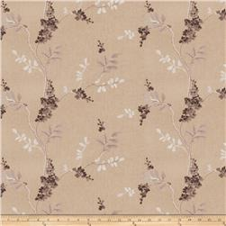Fabricut Linen Embroidered Twill Brookdale Grey
