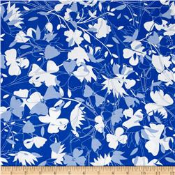 Jenean Morrison True Colors Flower Blue Fabric