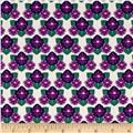 Rhode Island State Flower Violet White/Green/Purple