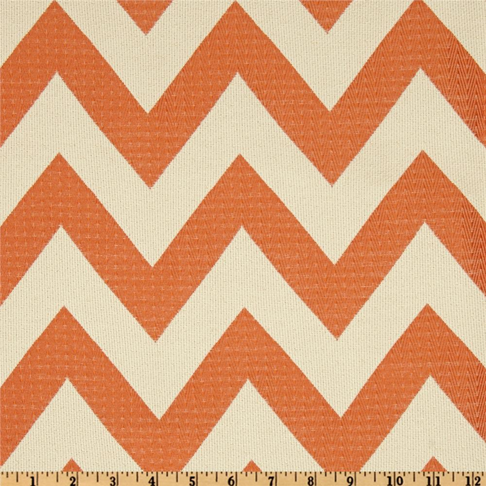 HGTV Home Chevron Chic Jacquard Papaya