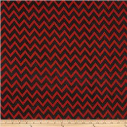 Chiffon Chevron Red/Black