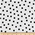 Oil Cloth Polka Dot White/Black