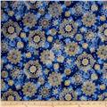 In Bethlehem Metallic Medallions Royal Blue