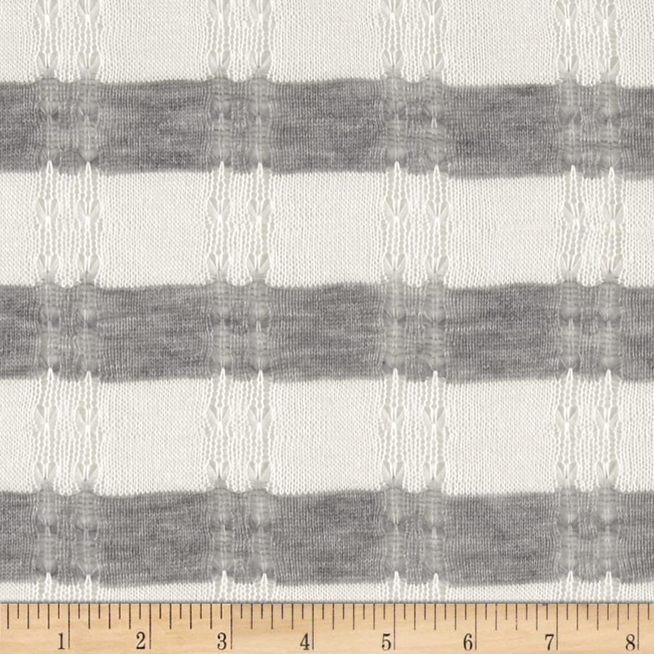 Novelty Sweater Knit Grey/White Fabric By The Yard