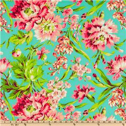 Amy Butler Love Bliss Bouquet Teal Fabric