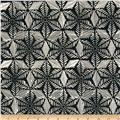 Artisan Batiks Geo Scapes Trellis Leaves Black/White