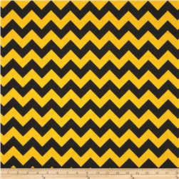 Riley Blake Wide Cut Chevron Medium Black/Gold