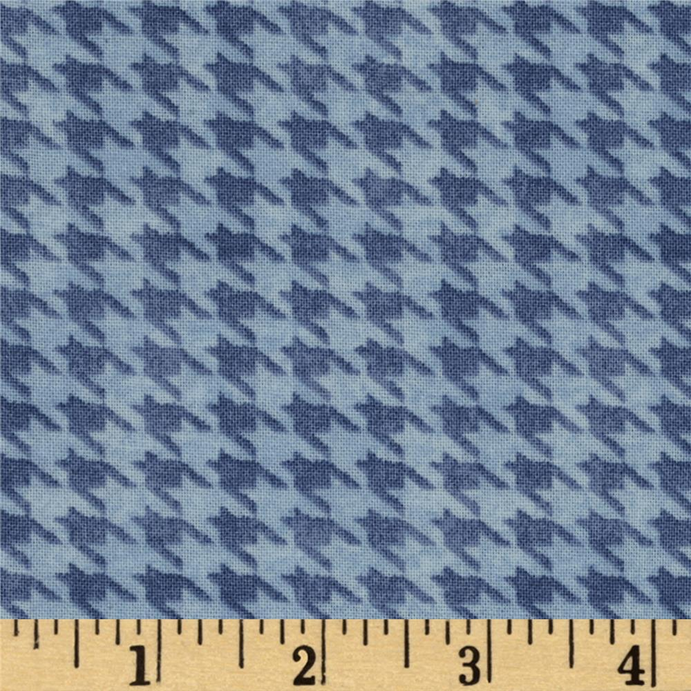 Alpine Woods Alpine Houndstooth Light Blue