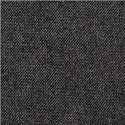 Wool Blend Melton Fancy Diamond Weave Grey/Black