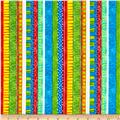 Timeless Treasures A Bug's Life Funky Stripe Brite