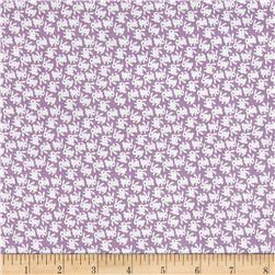Nana Mae 1930's White Bunnies On Lilac