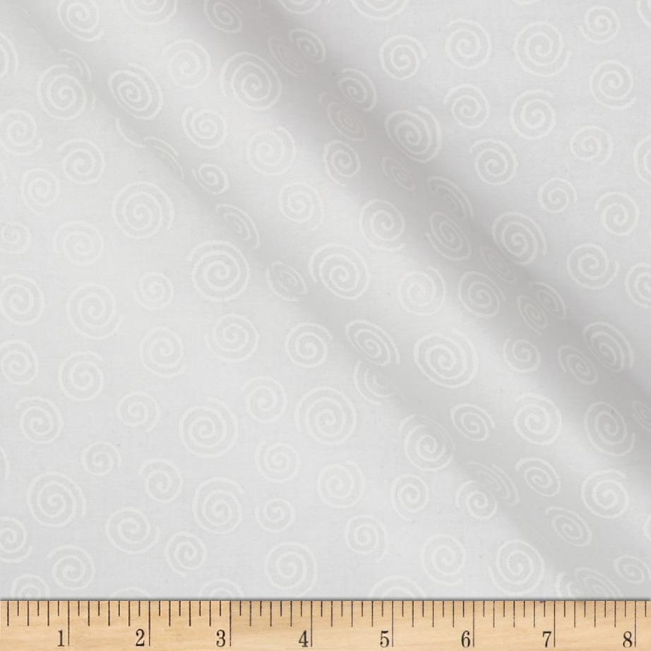 110''  Wide Quilt Backing Swirl White Fabric By The Yard