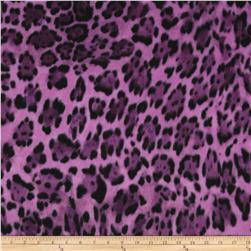 Winter Fleece Wild Leopard Purple