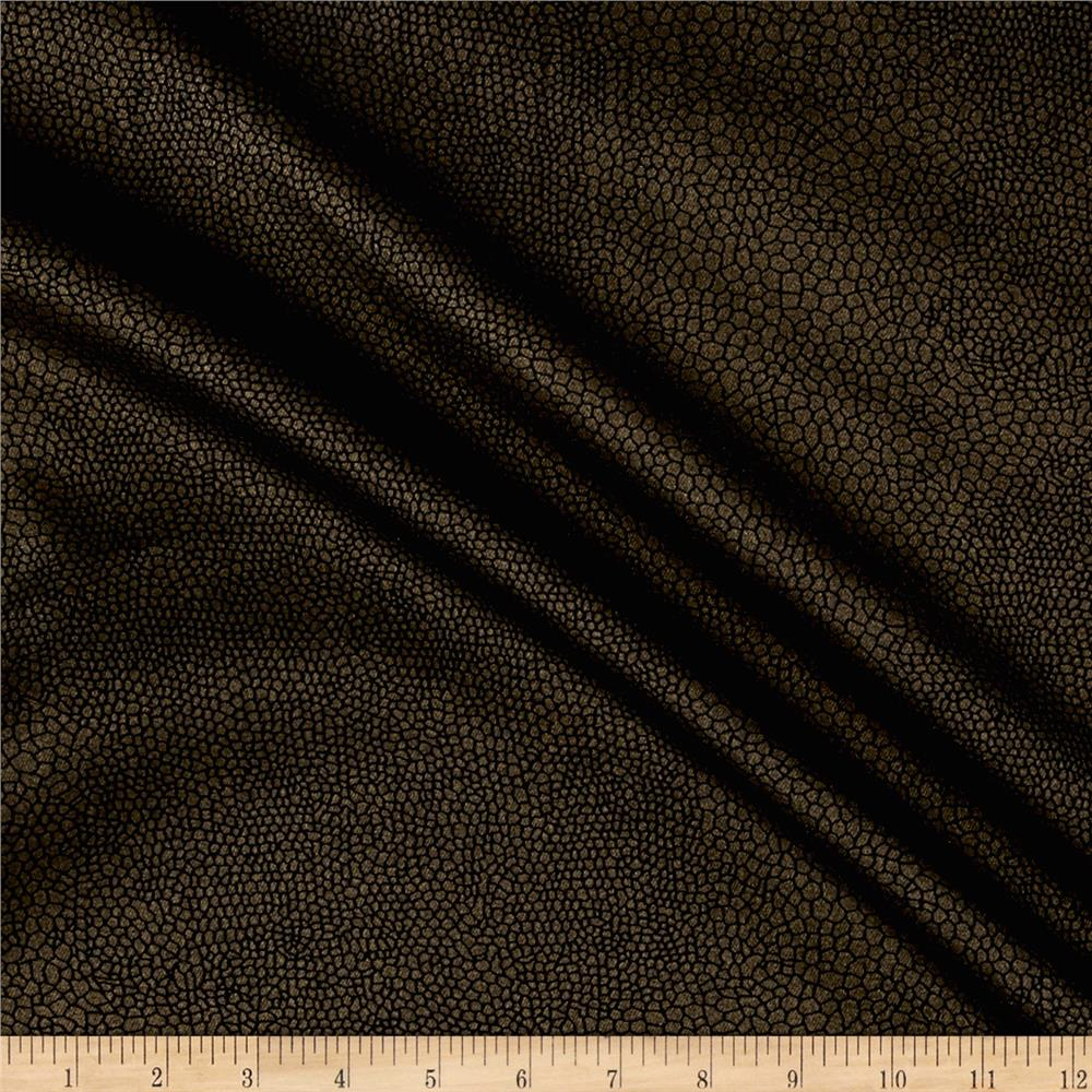 Designer Denim Stretch Twill Gold Scales