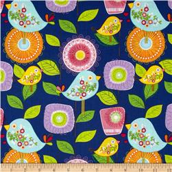 Sweet Tweet Garden Blue/Multi Fabric