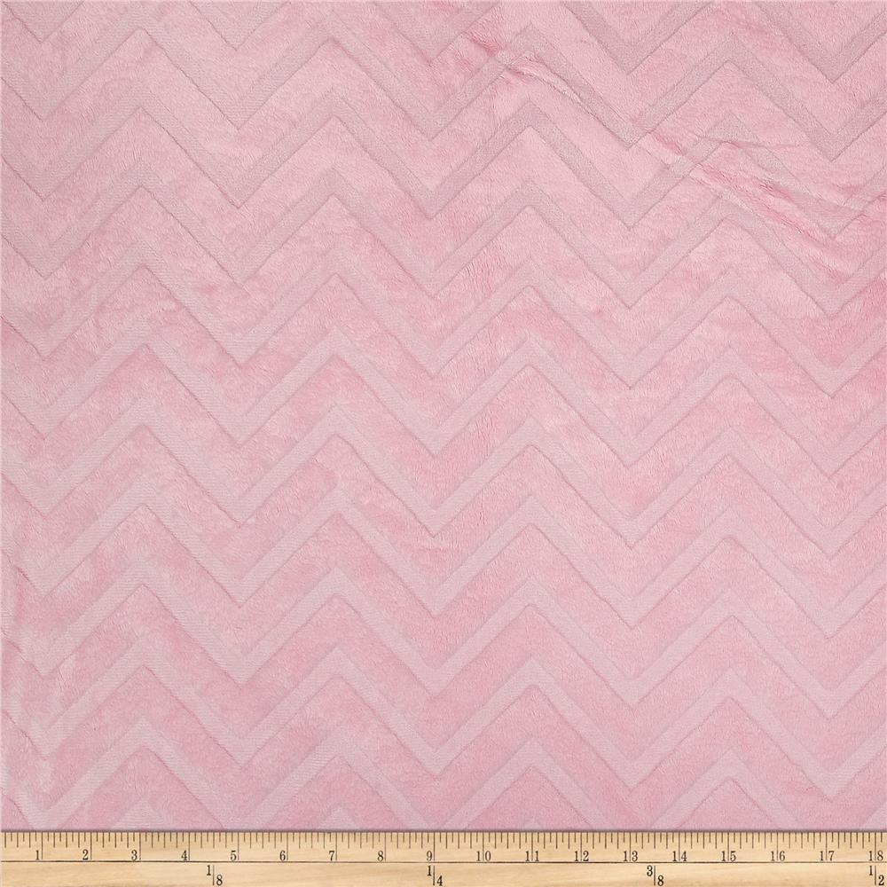 Minky Cuddle Embossed Chevron Blush