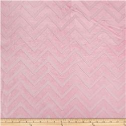 Shannon Minky Embossed Chevron Cuddle Blush
