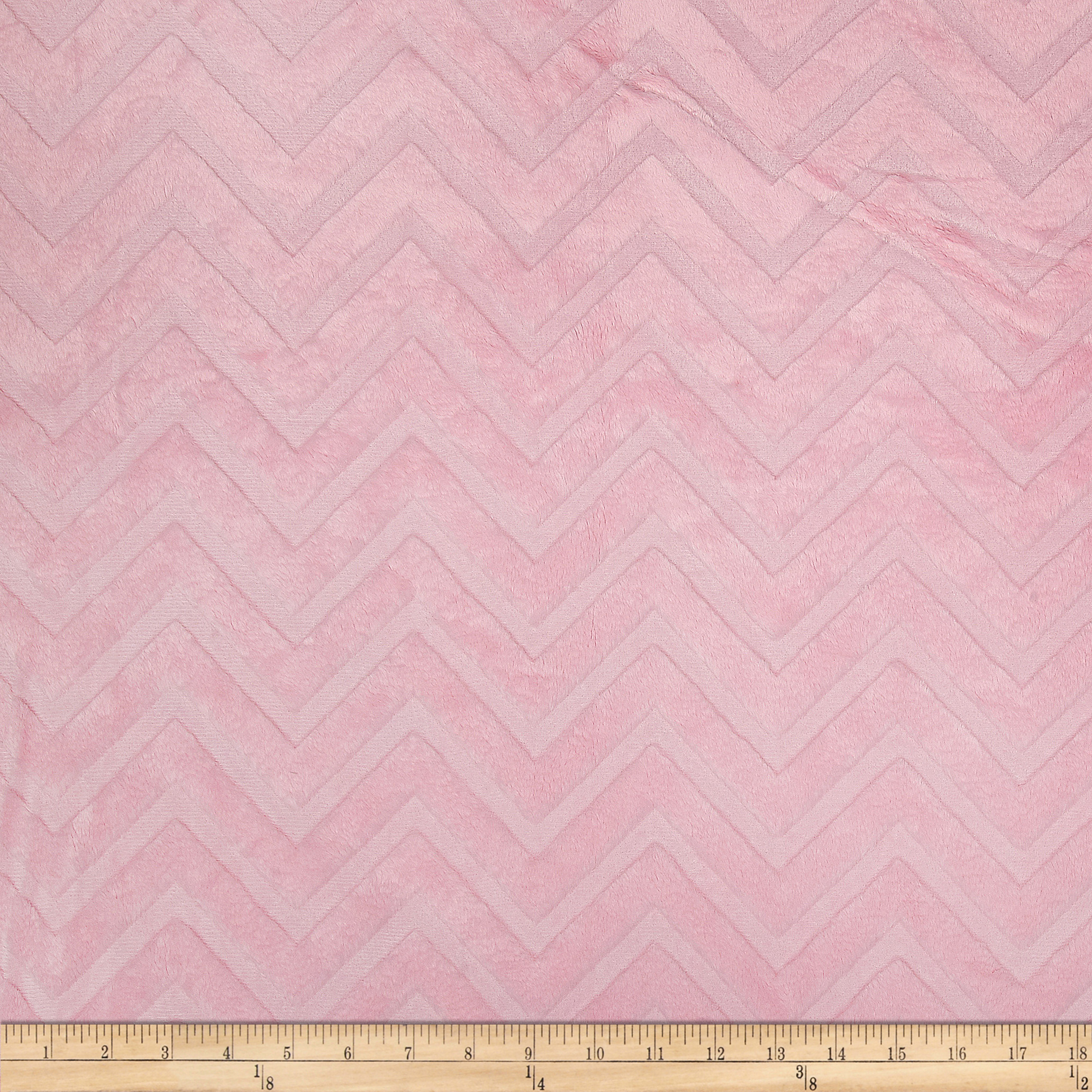 Shannon Minky Cuddle Embossed Chevron Blush Fabric