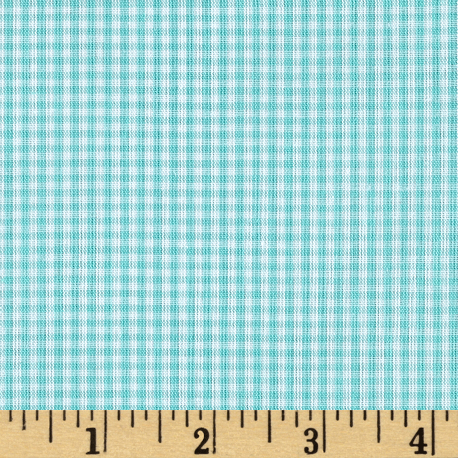 Richcheck 60'' Gingham Check 1/16'' Mint Fabric by Richland in USA