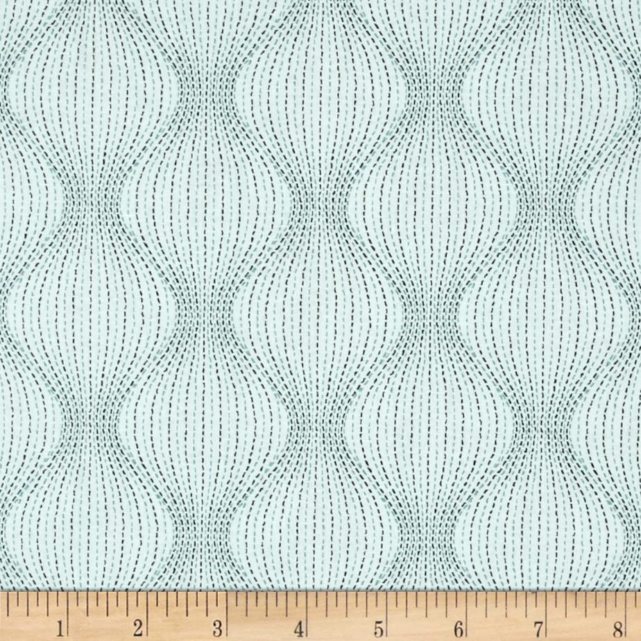 Kaufman Studio Stash 3 Bulging Stripe Aqua