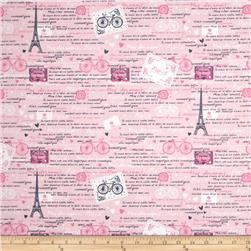 Timeless Treasures Paris Pink