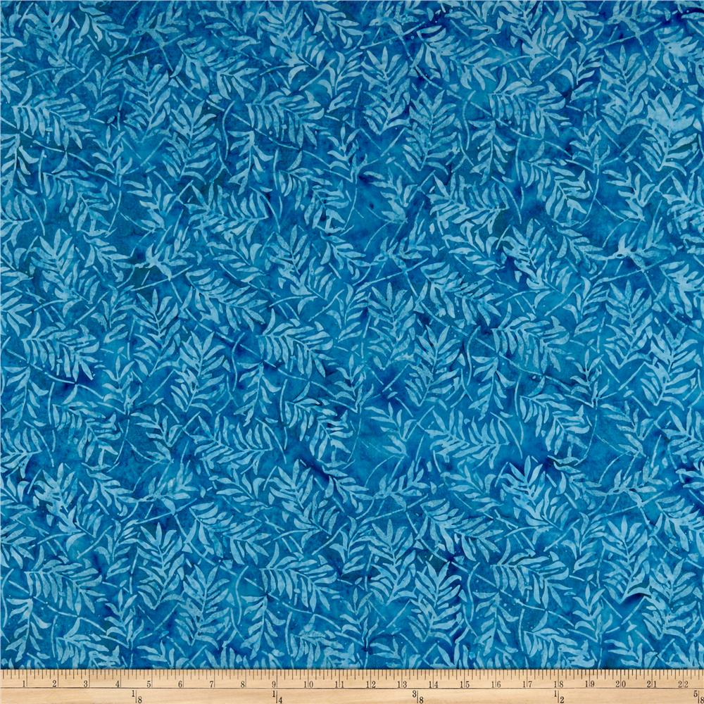 Forest Lake Fabric Home: Timeless Treasures Tonga Batik Boathouse Forest Leaves