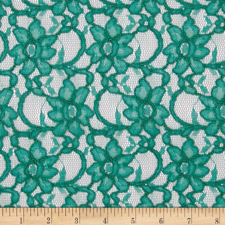 Supreme Lace Dark Mint Fabric