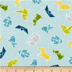 Moda Mixed Bag Flannel Origami Sky