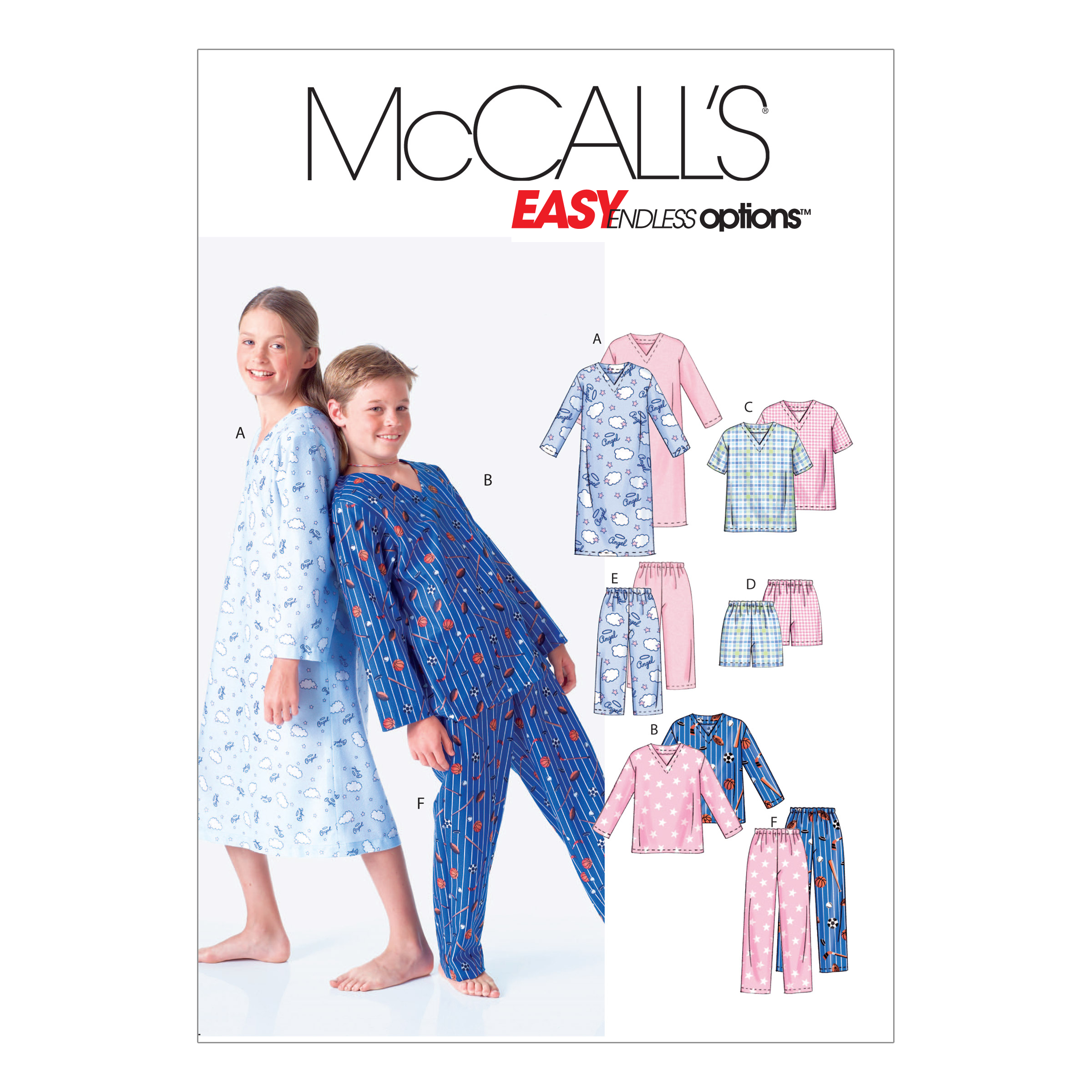 Image of McCall's Boys'/Girls' Shirt Tops Shorts and Pants Pattern M6227 Size CHH