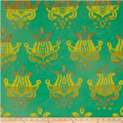 Alison Glass Handcrafted Patchwork Batik Lotus Pistachio Teal
