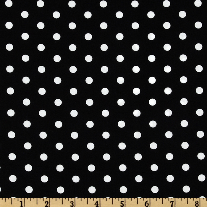 Pimatex Basics Polka Dot Black/White Fabric