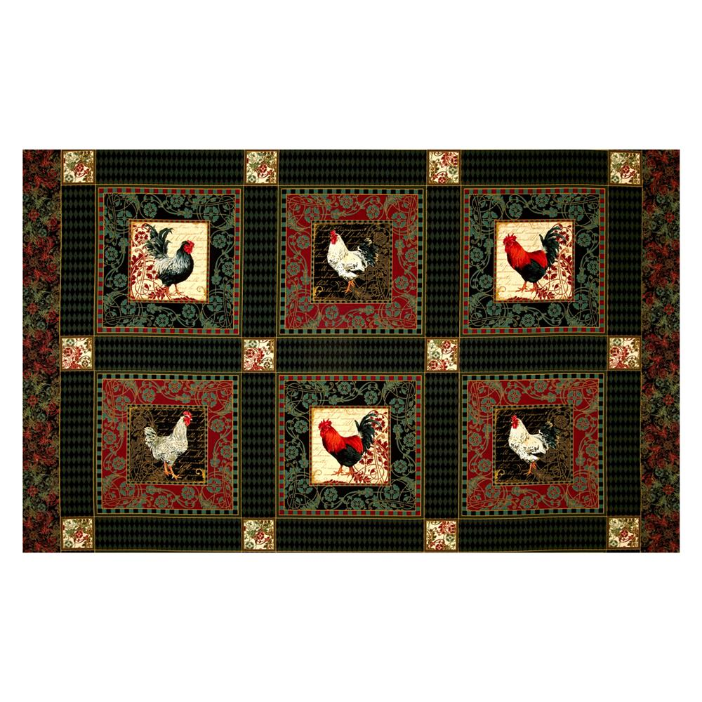 Penny Rose French Rooster Squares Green