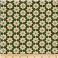 Moda Christmas Countdown Poinsettia Christmas Green