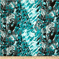 Dakota Jersey Knit Abstract Turquoise/Grey/Black