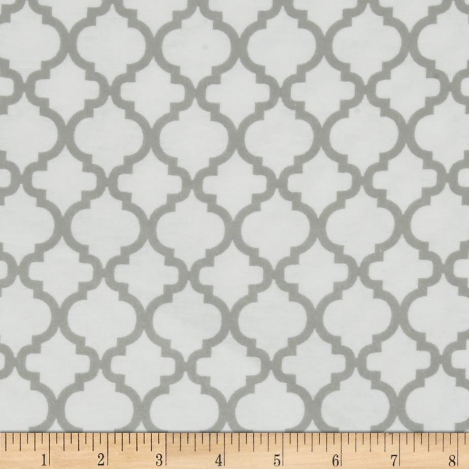 Bella Quatrefoil Flannel White/Jasper Grey