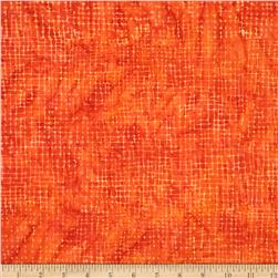 Timeless Treasures Tonga Batik Sunburst Sketch Orange