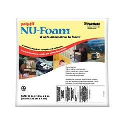 "Fairfield Poly-Fil Nu-Foam 14"" x 14"" x 2"""
