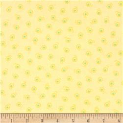 Lecien Flower Sugar Flower Dots Yellow