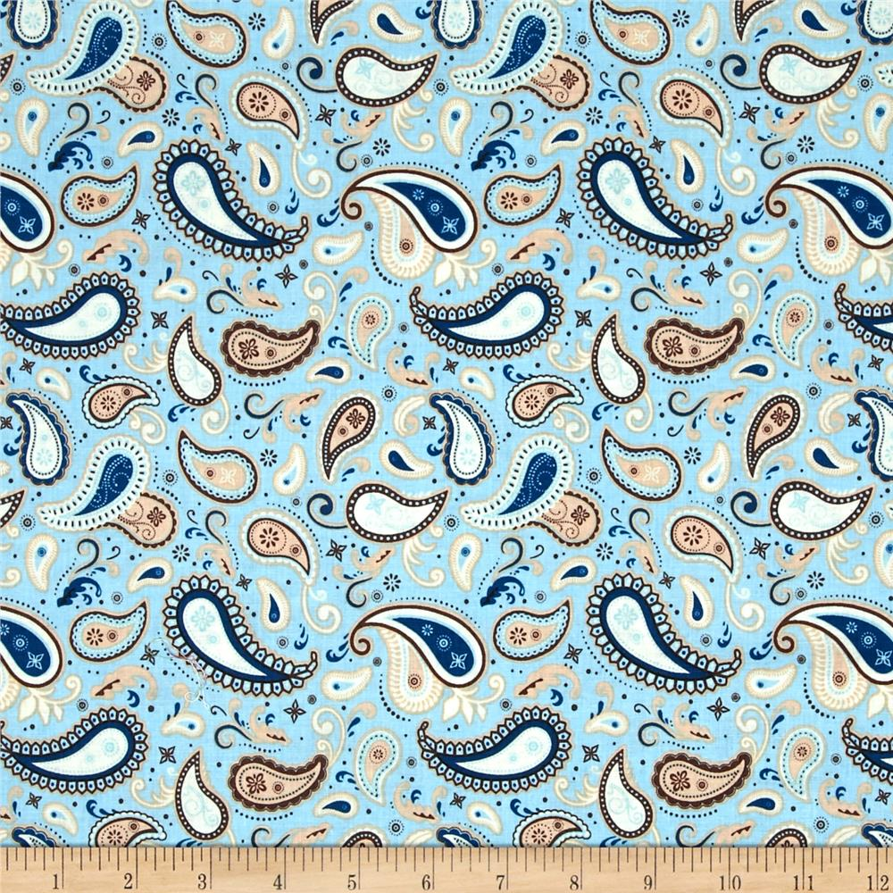 Riley Blake Rodeo Rider Rodeo Paisley Blue
