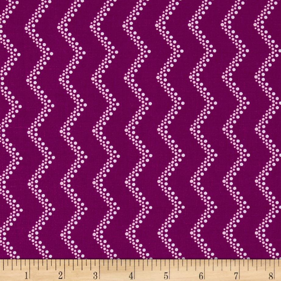 Modern Age Tone-on-Tone Chevron Plum