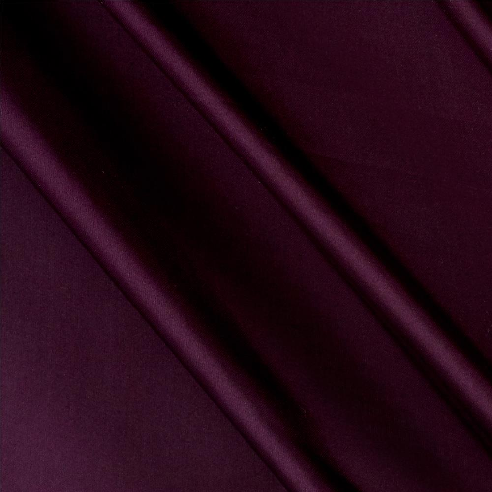 Charmeuse Satin Solid Plum Fabric By The Yard