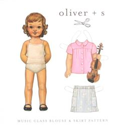 Oliver+ S Music Class Blouse & Skirt Pattern Sizes 5-12