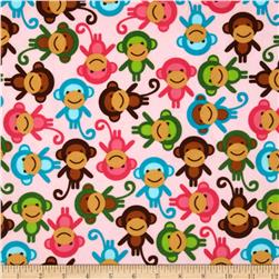Urban Zoologie Flannel Monkeys Sweet Fabric