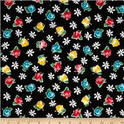 Michael Miller Poppy Love Retro Rose Black