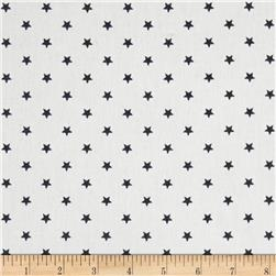 Premier Prints Mini Stars Twill White/Gunmetal