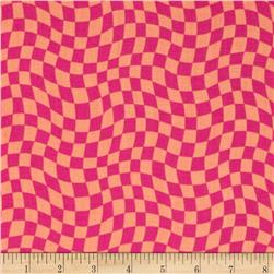 Hip Happier Wavy Check Hot Pink
