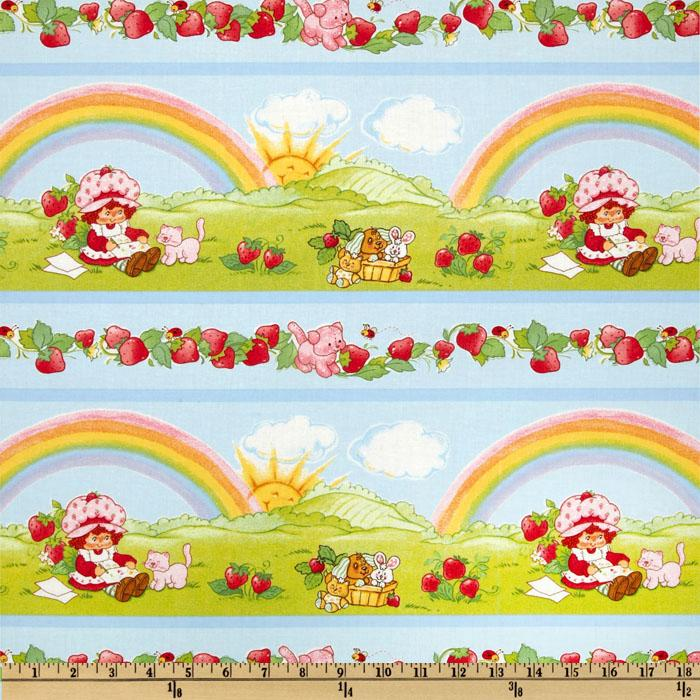 Strawberry Shortcake Classic Rainbow Stripe Light Blue