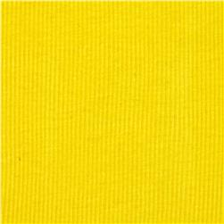 Basic Cotton Rib Knit Yellow