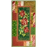 Marblehead Glistening Christmas II Poinsettia Panel Red/Green